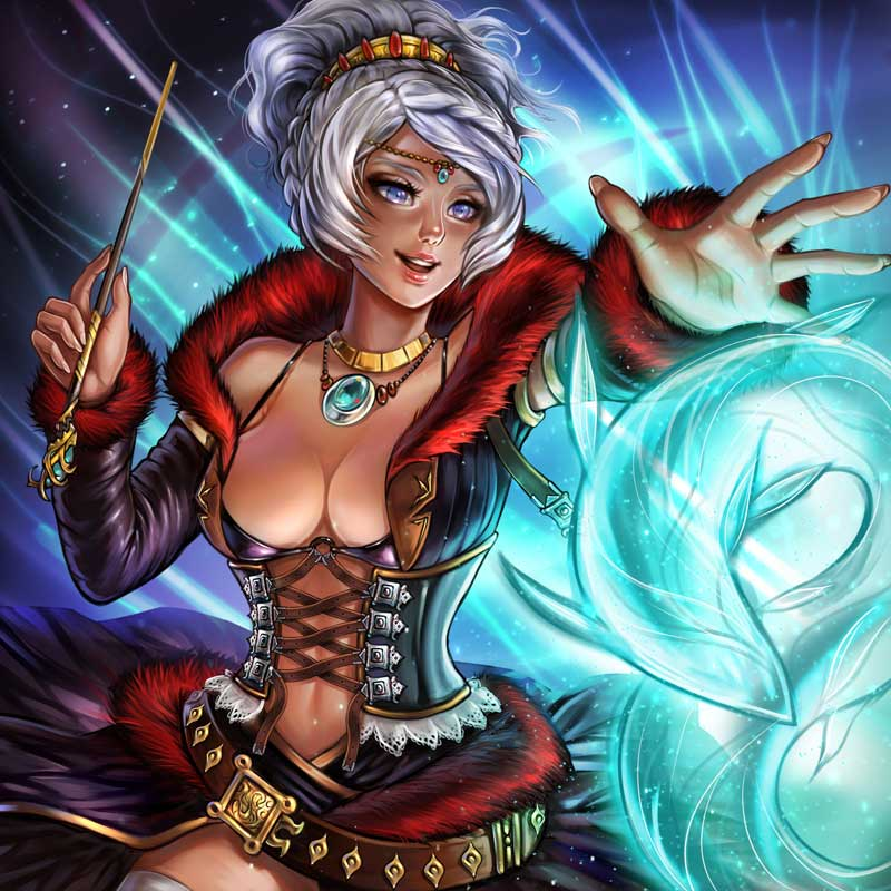 Trading Card Game Illustration Design - Witch